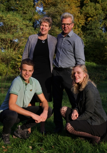 Familie portret op locatie